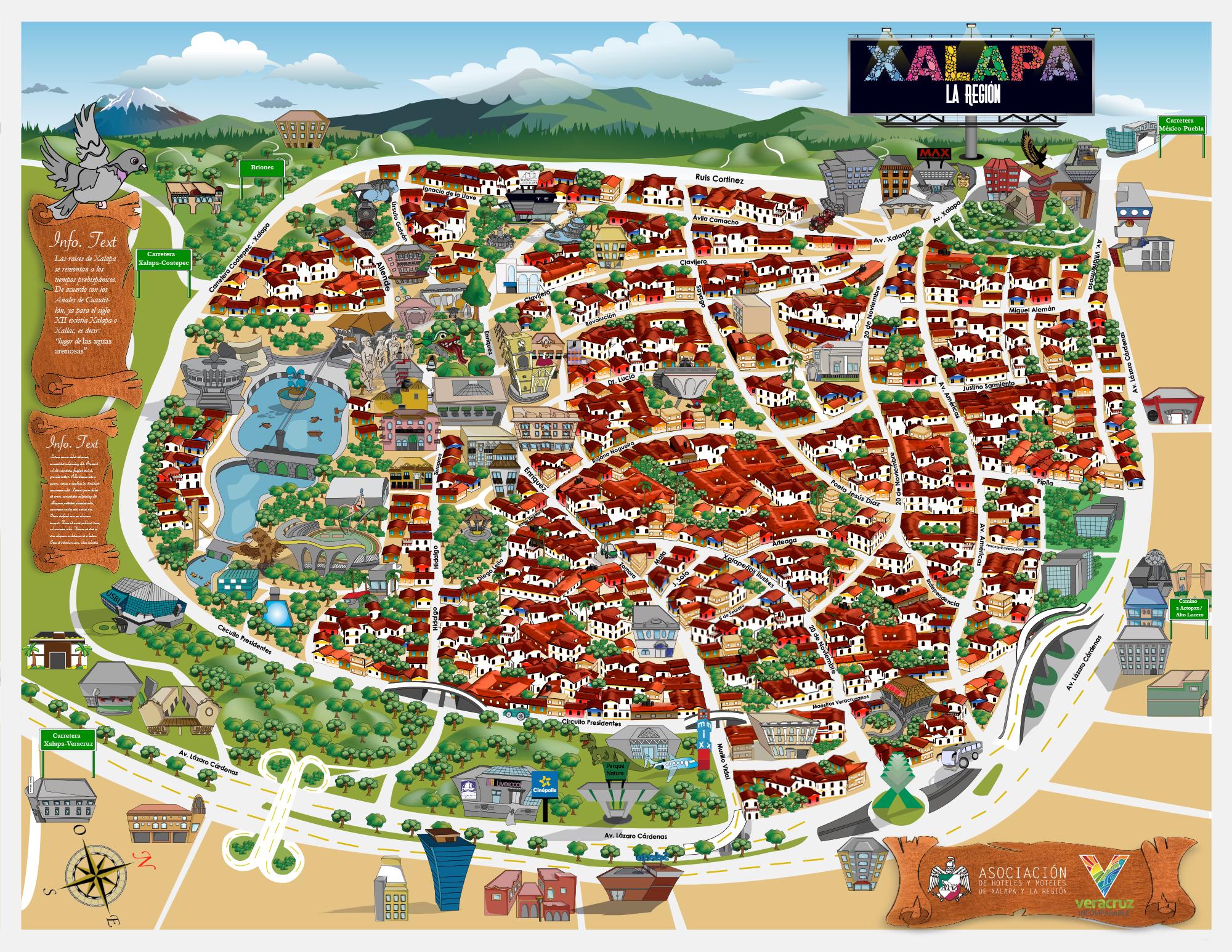 mapa de xalapa images