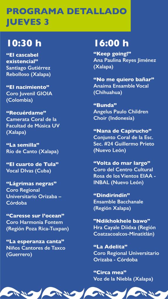 Programa detallado V FCU Artes UV Jueves