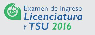 Licenciatura y TSU 2016
