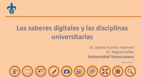 saberes digitales disciplinares