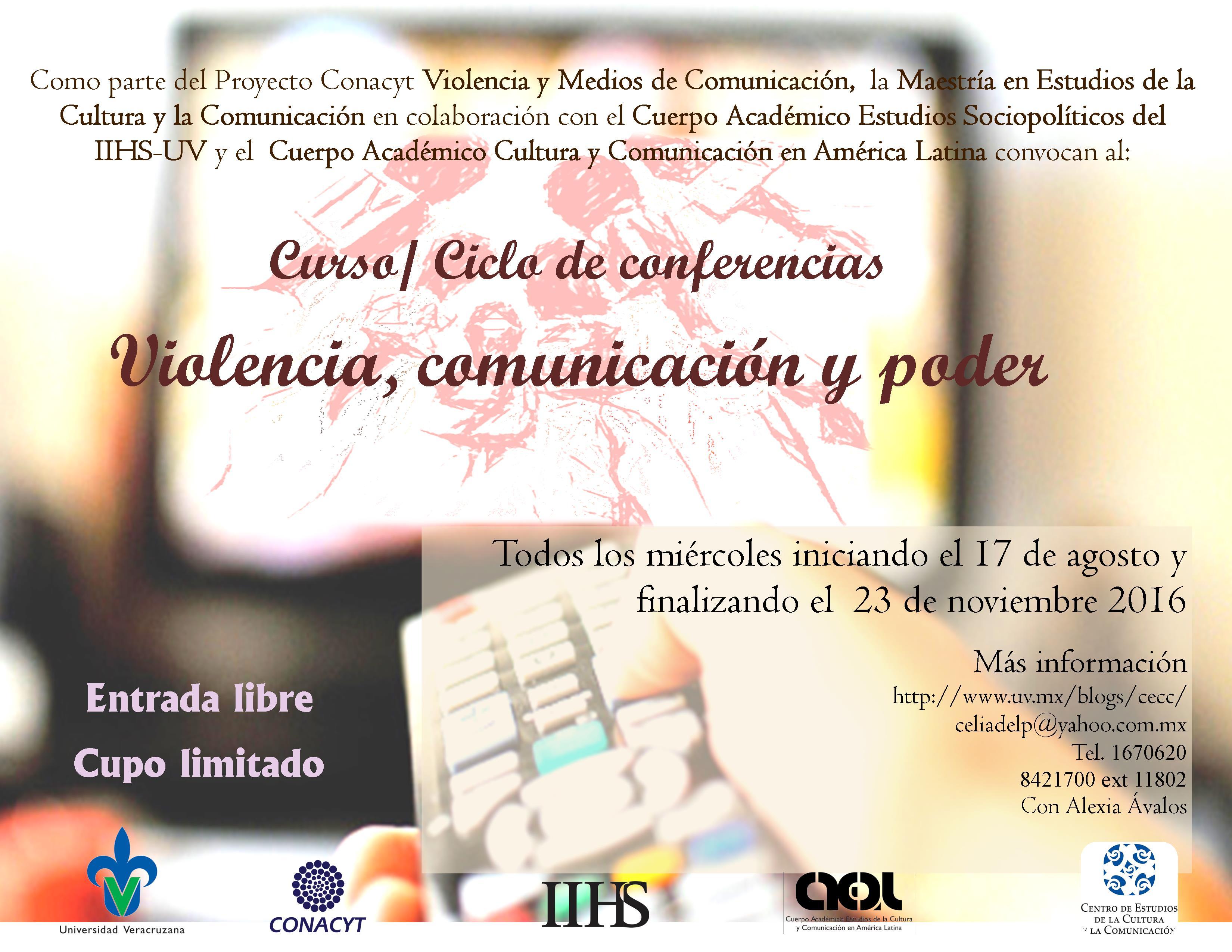 CURSO VIOLENCIA, COM Y PODER