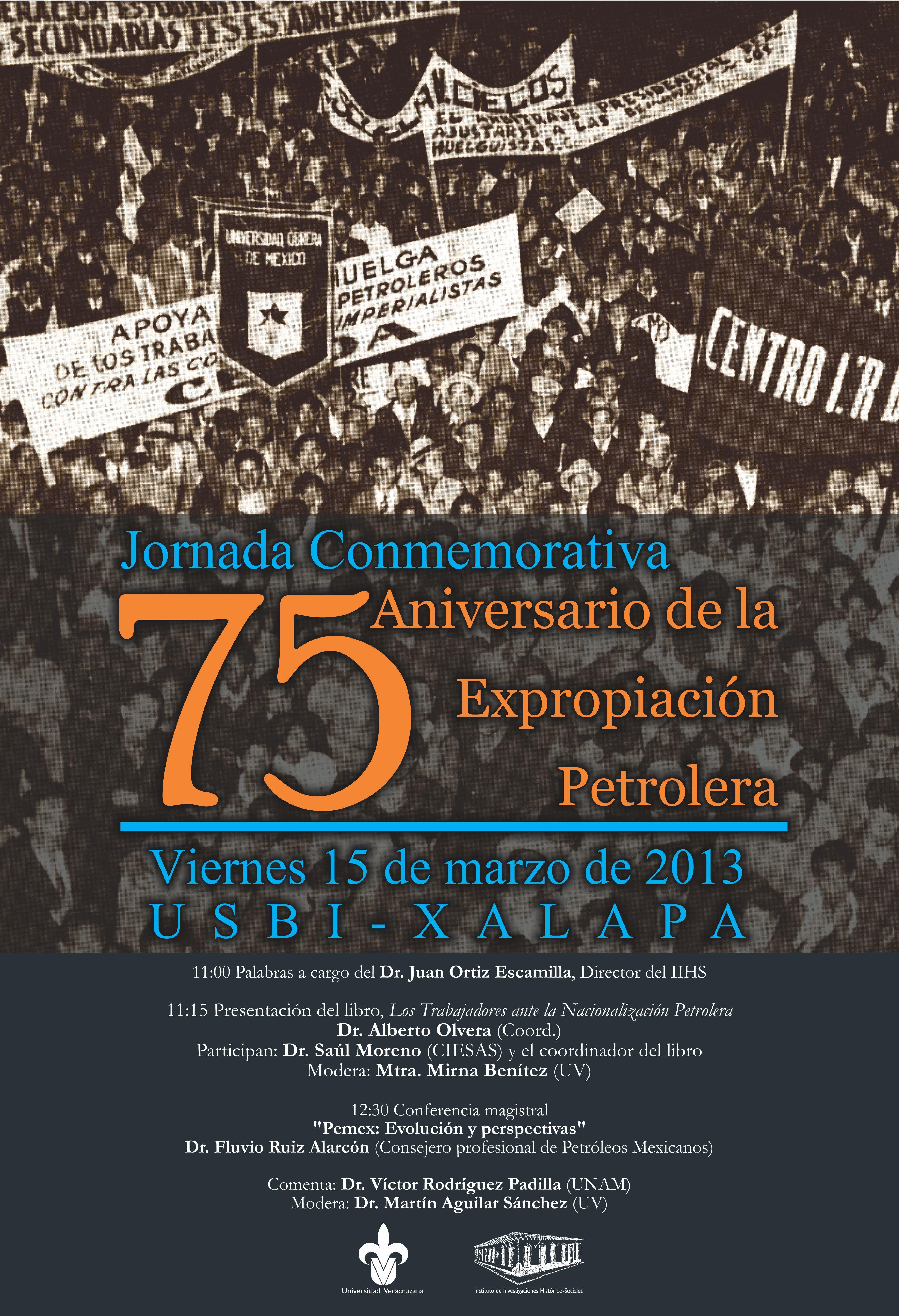 jornada conmemorativa  u00ab75 aniversario de la expropiaci u00f3n