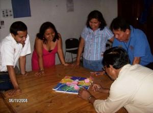 Profesores de la Sede Espinal, Región Totonacapan (Roberto Vázquez, Daisy Bernal, Cristina Sosa, Humberto Encarnación, Epifanio Hernández)