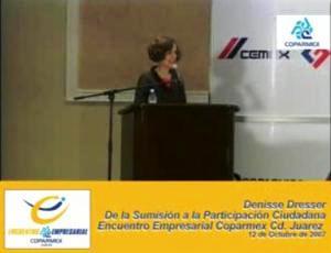 """Denisse Dresser: """"De la sumisión a la participación ciudadana"""", Conferencia"""