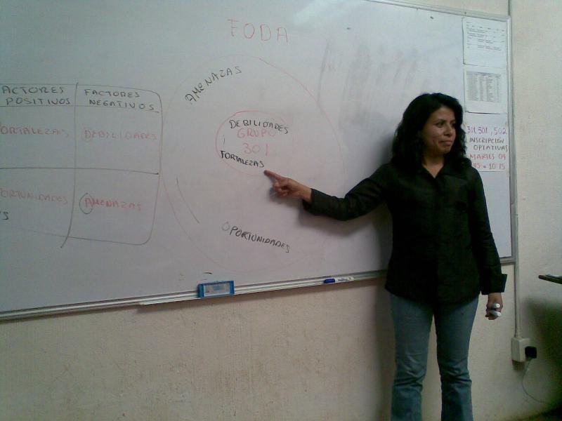 UVI. Ejercicio FODA, preparativos en Clase para una práctica de investigación