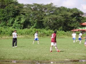 Encuentro deportivo de fútbol interuvi