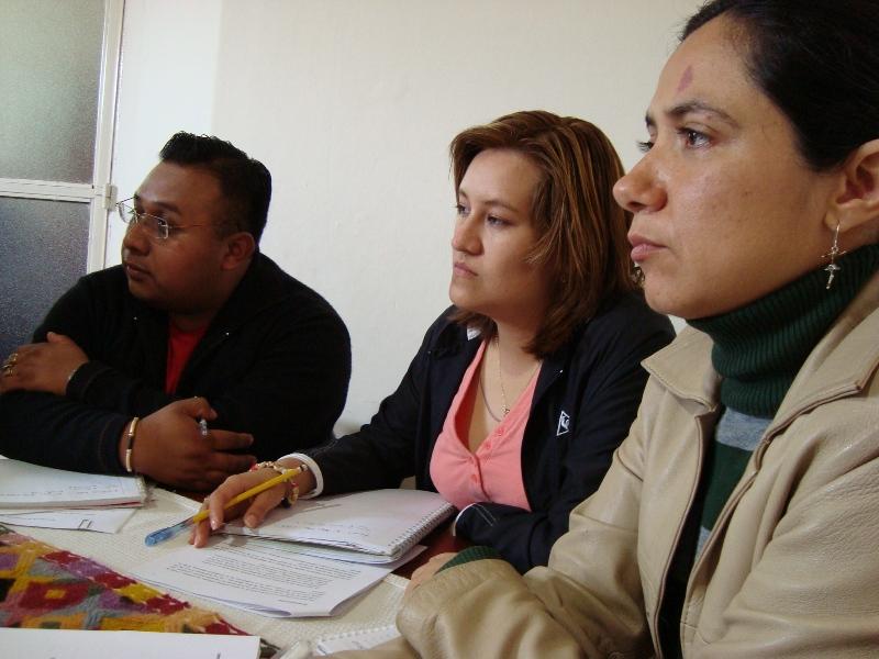 Ascención Sarmiento, Isabel Miranda, Adriana Ávila
