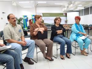 José Antonio Vergara Camacho (C. Químicas), Patricia Martínez Moreno (Contaduría y Administración), Rosalia Castillejos Luis (Vice Rectoria)