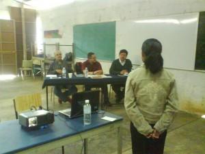 Ignacia García Feliciano, examen profesional