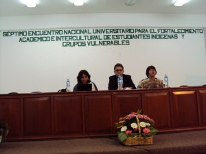 A la derecha Judith Martínez Tapia, Coordinadora del DAAEI