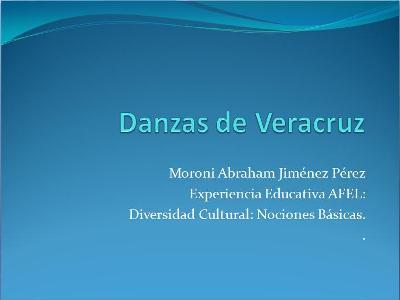 """""""Danzas de Veracruz"""" (PDF, 541KB), [CLICA AQUÍ PARA DESCARGAR EL ARCHIVO]"""