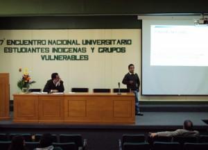 """Samuel Leyva (UPN) presentando su ponencia """"La inclusión en la educación, una cuestión de justicia e igualdad"""""""