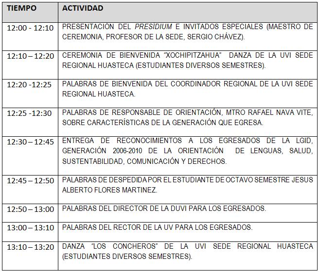 Programa de la Entrega de Reconocimientos (CLICA EN LA IMAGEN PARA MAXIMIZARLA)