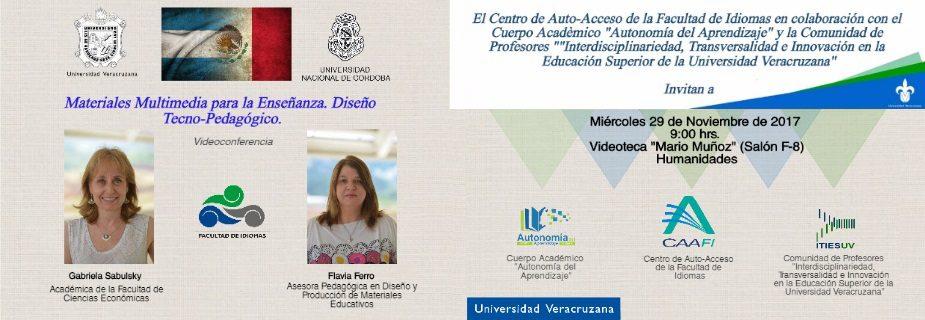 Videoconferencia: Materiales Multimedia para la Enseñanza. Diseño Tecno-Pedagogico.