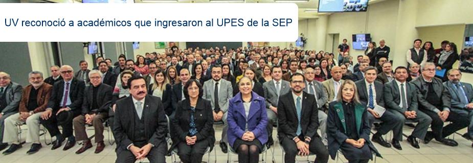 UV reconoció a académicos que ingresaron al UPES de la SEP
