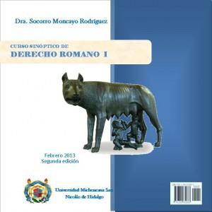 Caratula Curso sinoptico de Derecho Romano I
