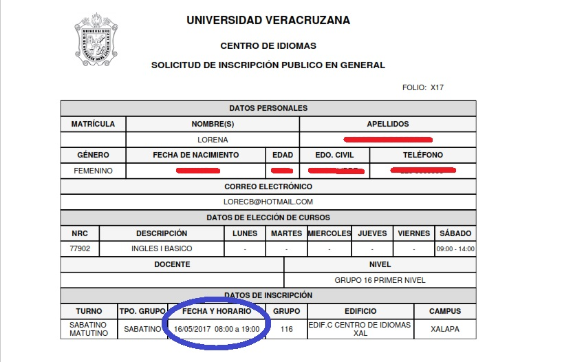 Nuevo Ingreso (201851) - Centro de Idiomas Coatzacoalcos