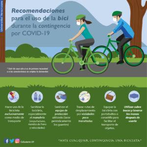 Recomendaciones para uso de la bici durante la contingencia por COVID-19