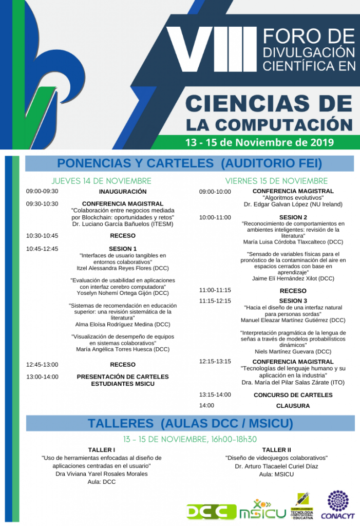 Programa VIII Foro de Divulgación Científica