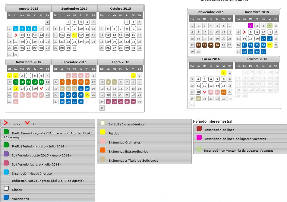 calendario 20152