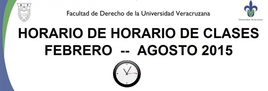 HORARIO DE CLASES BANNER 2015