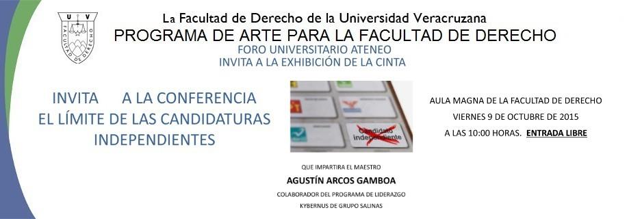 arte banner CINE FORO ATENEO CANDIDATOS INDEPENDIENTES