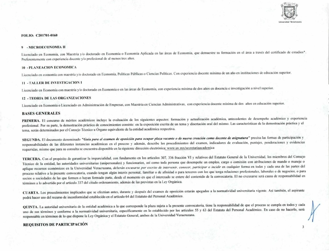Convocatoria plaza como profesor de asignatura periodo for Sep convocatoria plazas 2016