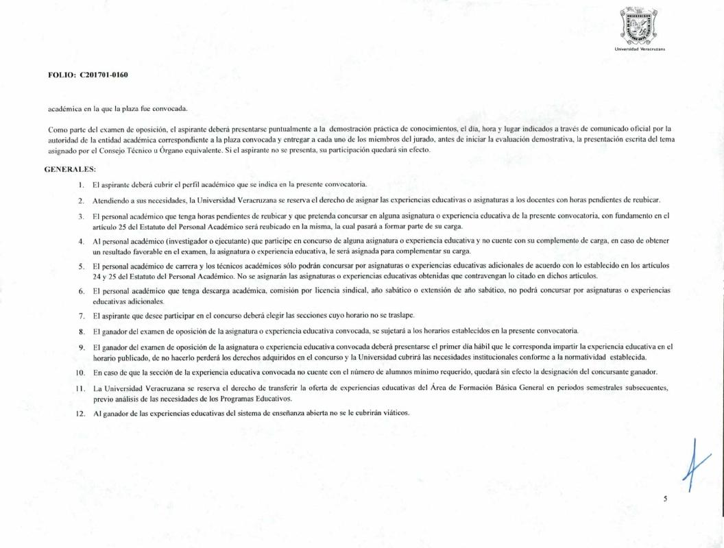 Convocatoria plaza como profesor de asignatura periodo for Convocatoria de plazas docentes 2017