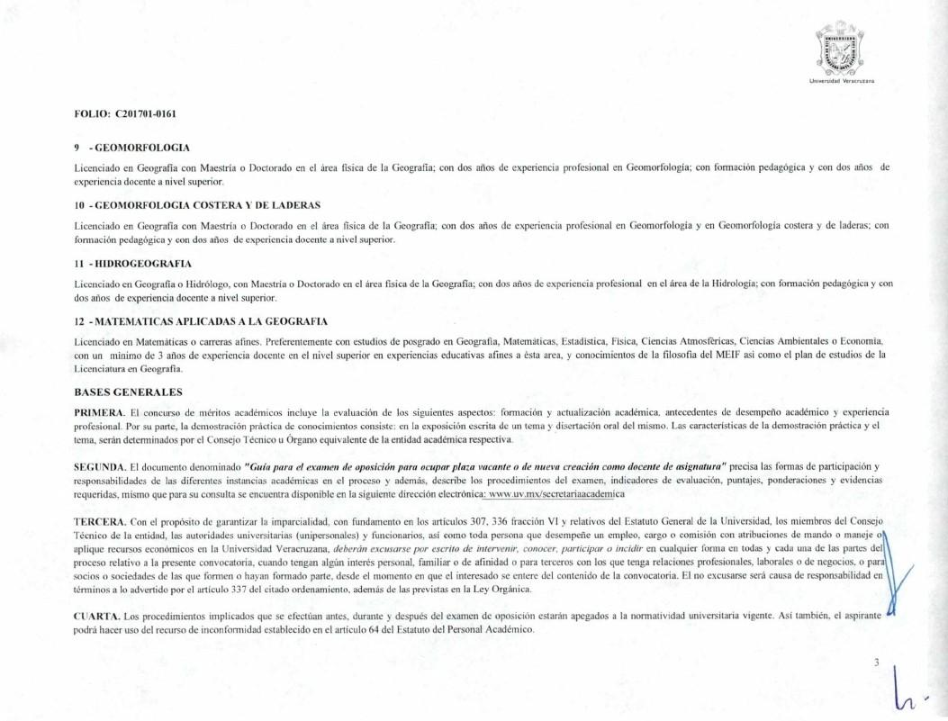 Licenciatura geograf a convocatoria plaza como profesor for Convocatoria para plazas docentes 2016