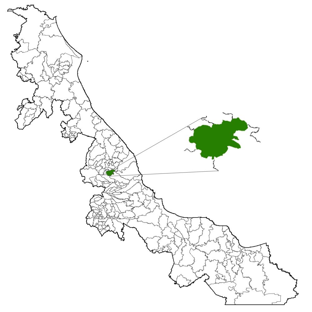 Xalapa en el estado de Veracruz