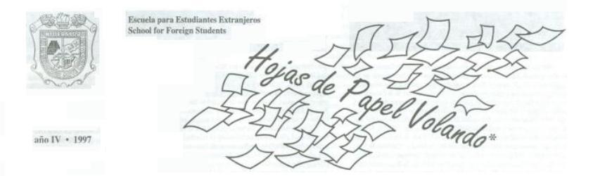 Hojas de Papel Volando - 1997