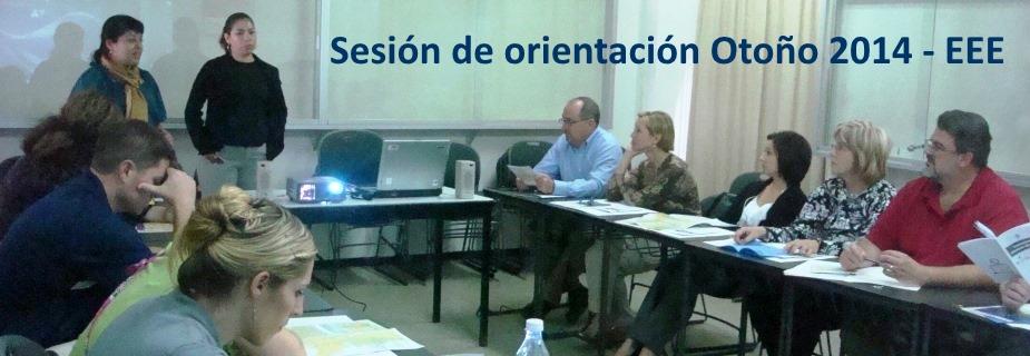 Sesión de orientación Otoño 2014