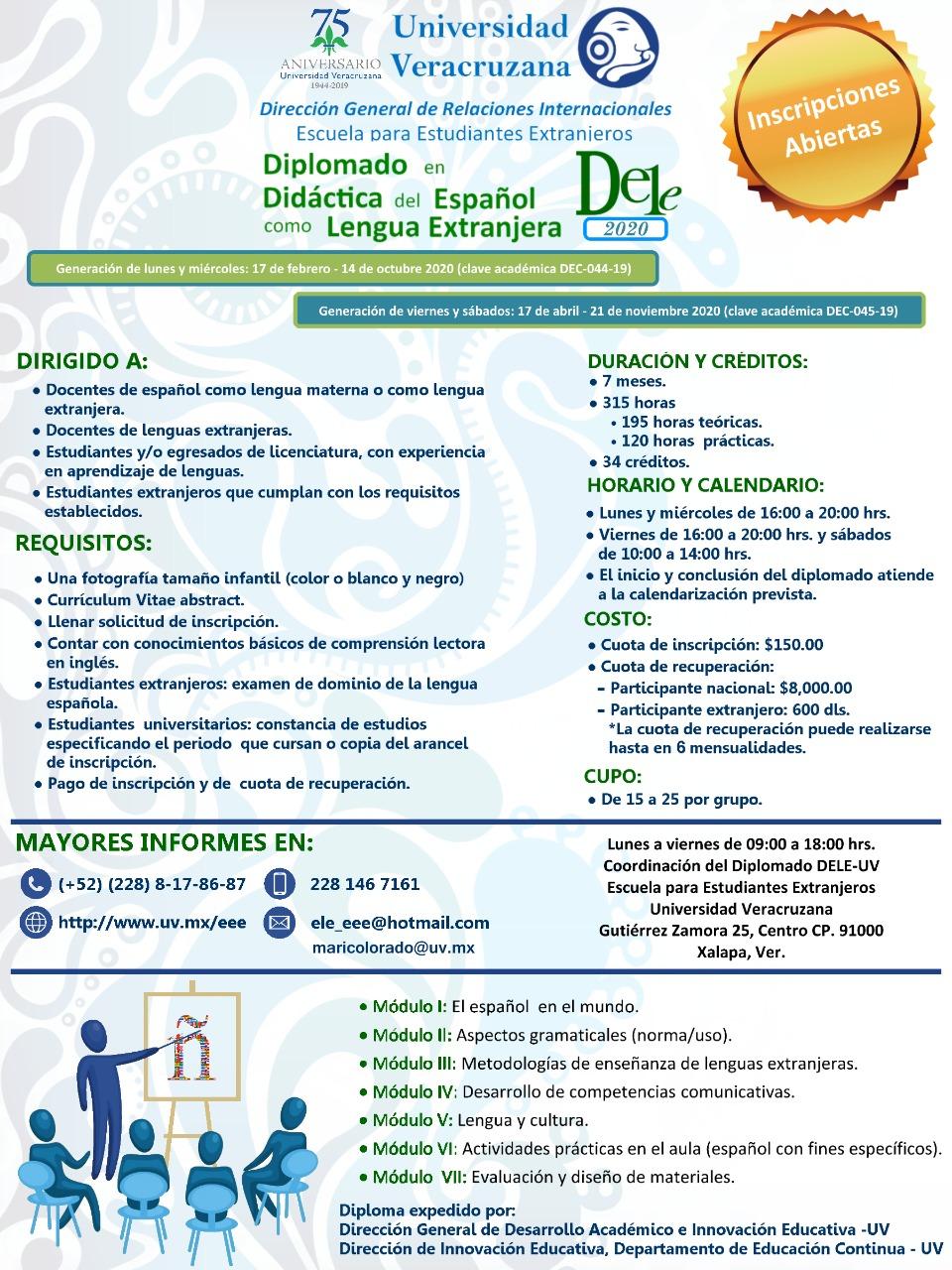 EEE - Diplomado en Didáctica del Español como Lengua Extranjera 2020