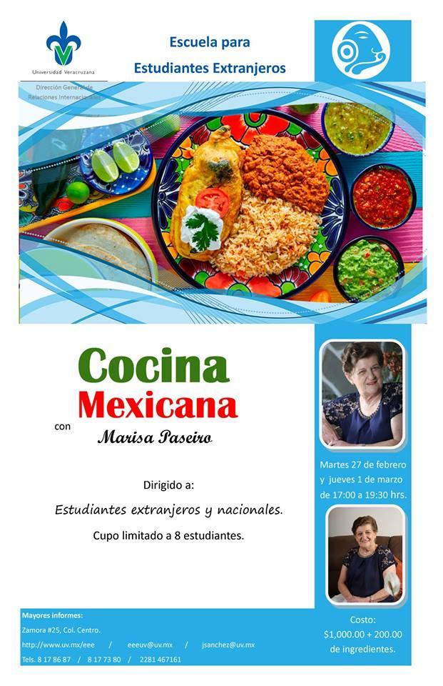 Cartel cocina mexicana con Marisa Paseiro - Primavera 2018