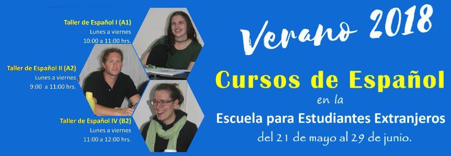 Banner: Cursos de Español 2018 EEE