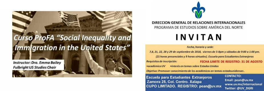 """Curso profa """"Social inequality and immigration in the United States"""""""