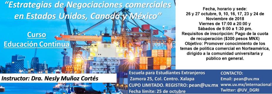 Banner PEAN - Estrategias de negociaciones comerciales en Estados Unidos, Canadá y México