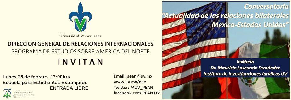 """Conversatorio """"Actualidad de las relaciones bilaterales México-Estados Unidos"""""""
