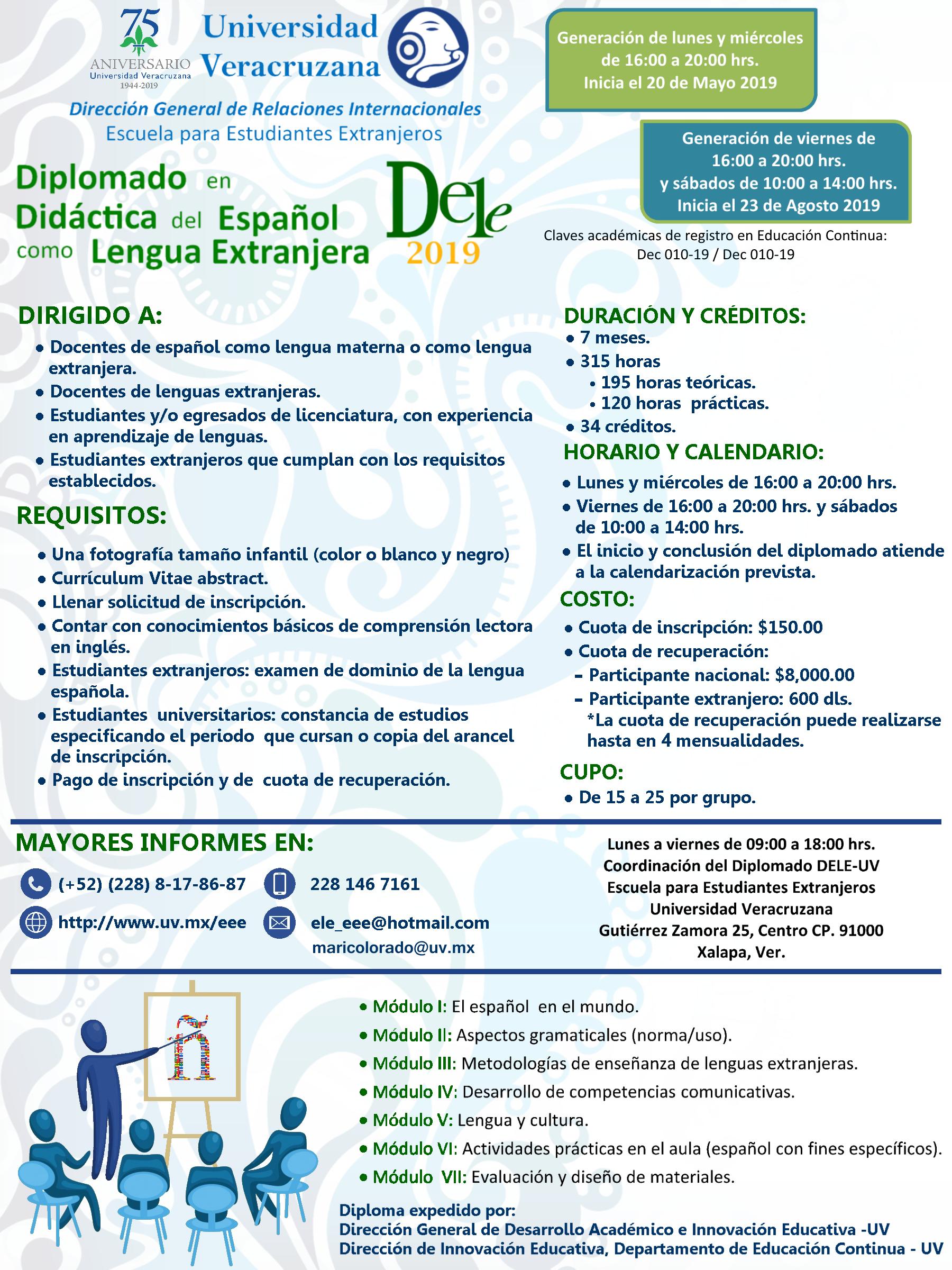 Cartel Diplomado en Didáctica del Español como Lengua Extranjera 2019