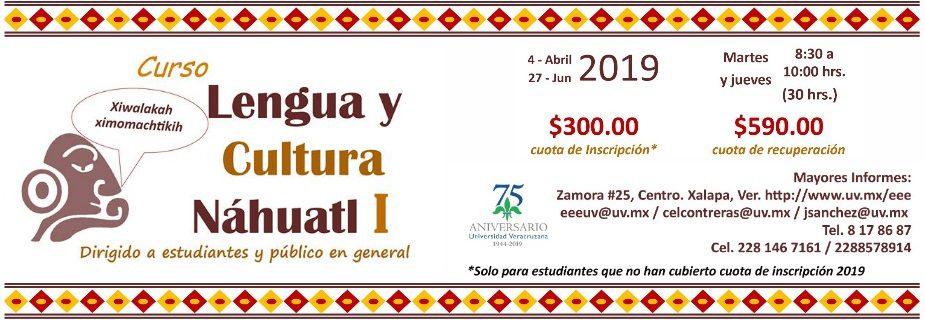 Banner Curso lengua y cultura Náhuatl