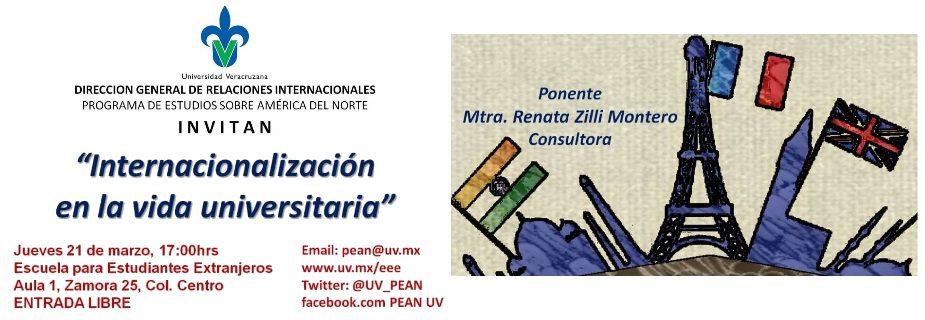 Banner PEAN: Internacionalización en la vida universitaria  
