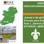 Banner: ¿Estudiar en Irlanda? Charla con University College Cork, Becas y Oportunidades.