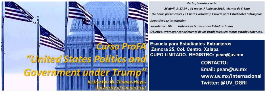 """Curso Profa: """"United States Politics and Government under Trump"""""""