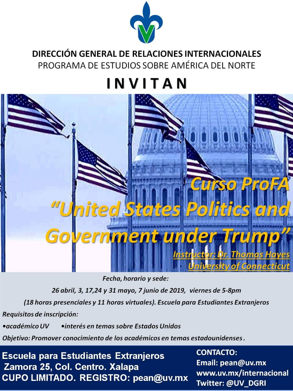 "Curso Profa: ""United States Politics and Government under Trump"""
