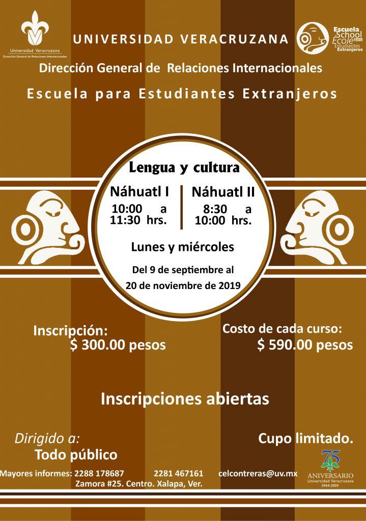 Cursos: Náhuatl I y II