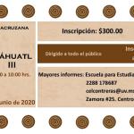 Banner - Curso-Taller: Náhuatl II y III