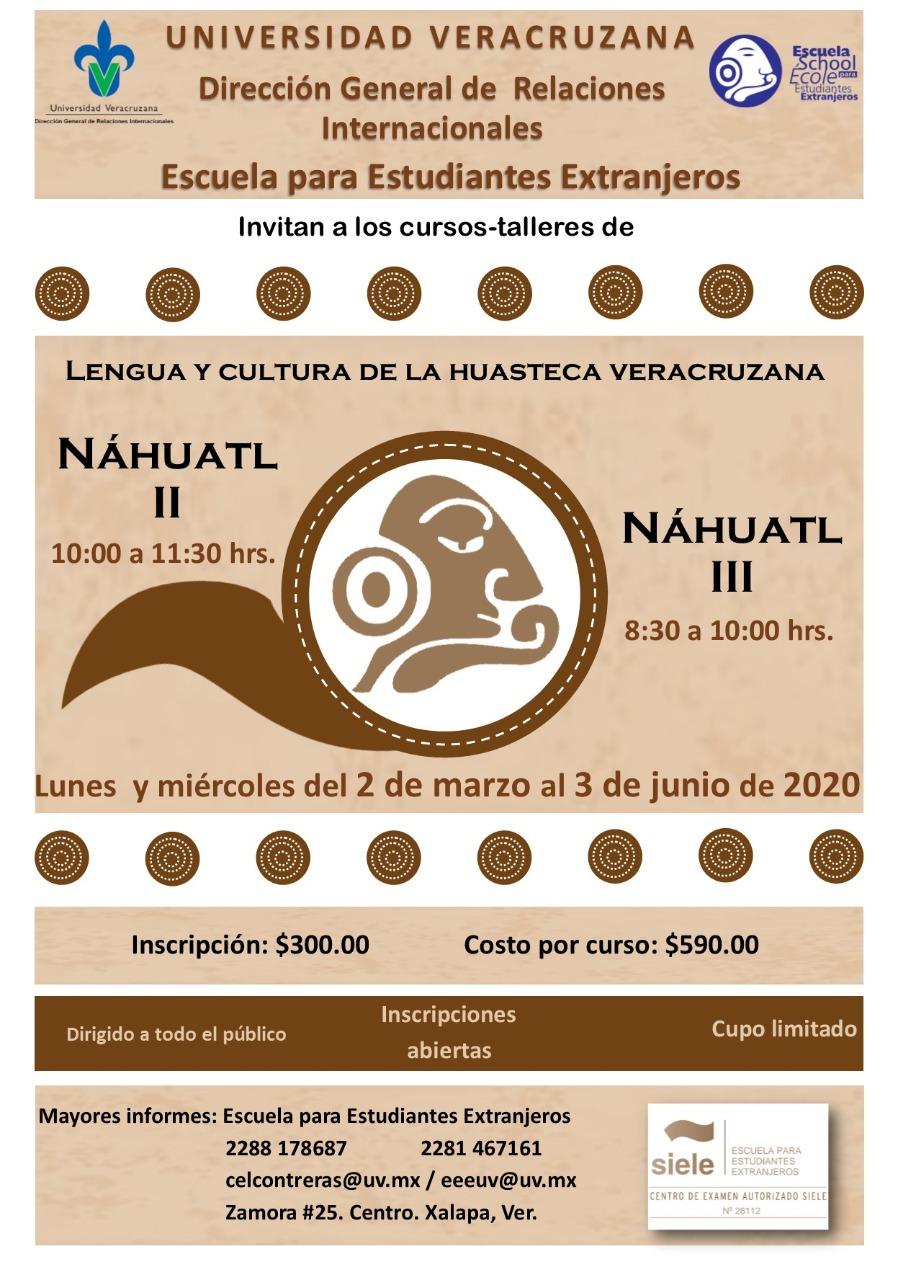 Curso-Taller: Náhuatl II y III