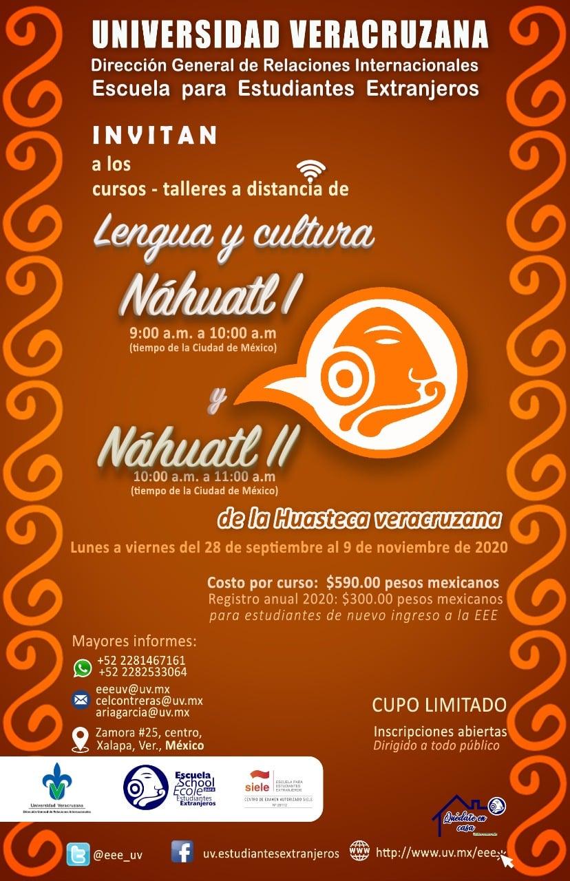 Curso/Taller: Lengua y cultura Náhuatl I y Lengua y cultura Náhuatl II de la huaesteca veracruzana