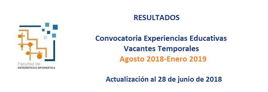 Uv Convocatoria 2019: Facultad De Estadística E Informática