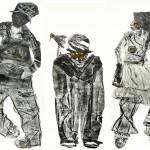 Sebastian Fund - La sagrada Familia, Colografía y Chine -collé-228x180cm